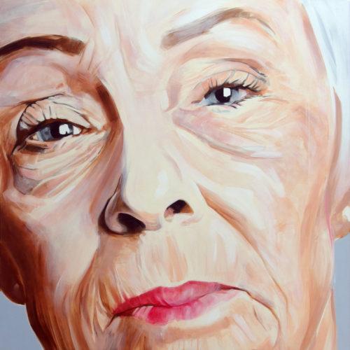 Portrait à l'acrylique sur toile d'une habitante, native, de Brisbane Australie